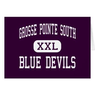 Grosse Pointe South - Blue Devils - Grosse Pointe Greeting Card