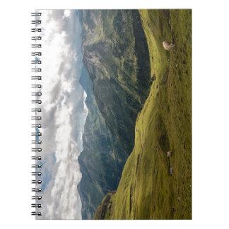 Grossglockner  valley spiral notebook