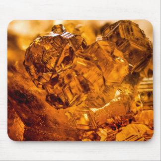 Grossular Garnet Crystals Mouse Pad