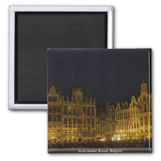 Grote Market, Brussel, Belgium Square Magnet