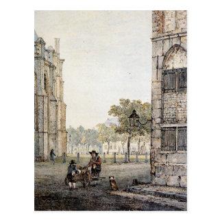 Grotekerksplein in Dordrecht by Jacob van Strij Postcard