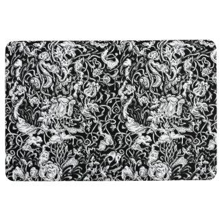 Grotesque Garden Black and White Mat