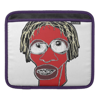 Grotesque Man Caricature Illustration iPad Sleeve
