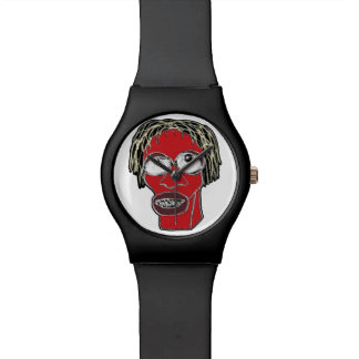 Grotesque Man Caricature Illustration Watch