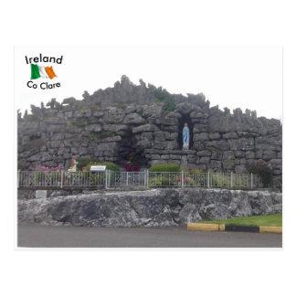 Grotto at Corofin village, Co. Clare, Ireland Postcard