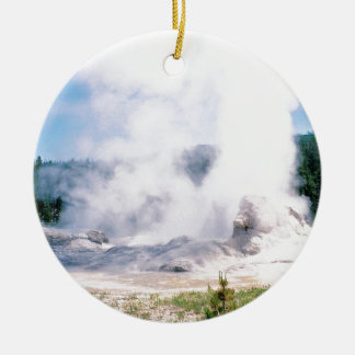 Grotto Geyser Ceramic Ornament