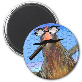 Groucho Chicken 6 Cm Round Magnet