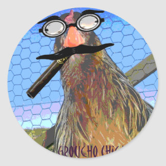Groucho Chicken Classic Round Sticker
