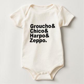 Groucho & Chico & Harpo & Zeppo Baby Bodysuit