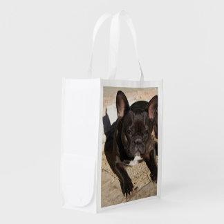 Grouchy French Bulldog Reusable Grocery Bag