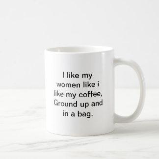 Ground&Bagged Basic White Mug
