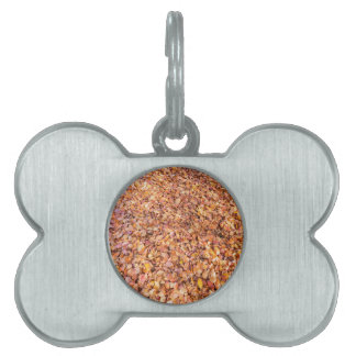 Ground covered with beech tree leaves in autumn pet name tag