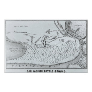 Ground Plan of the Battle of San Jacinto Poster