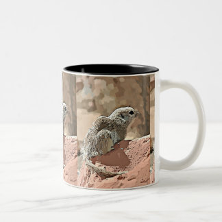 Ground Squirrel in Cartoon Coffee Ringer Mug