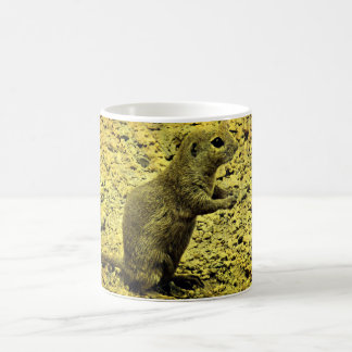 Ground Squirrel in Grunge Coffee Cup