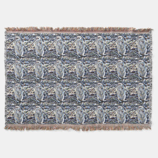 Ground Squirrel in the Rain Throw Blanket