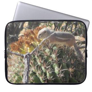 Ground Squirrel on Barrel Cactus Laptop Sleeve