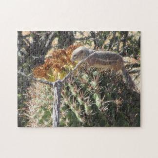 Ground Squirrel on Barrel Cactus Puzzle