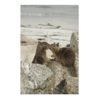 Ground Squirrels in Love Personalised Stationery
