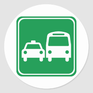 Ground Transportation Highway Sign Classic Round Sticker