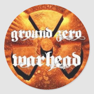 Ground Zero Warhead Rusted Classic Round Sticker