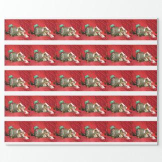 Groundhog Bessie and Red Squirrel Bluster Giftwrap