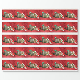 Groundhog Bessie and Red Squirrel Bluster Giftwrap Wrapping Paper