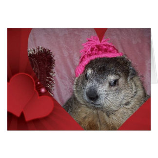 Groundhog, Clara Valentine's Day Card