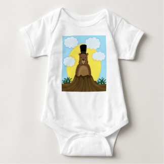 Groundhog day baby bodysuit