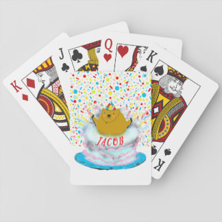 Groundhog Day Birthday Playing Cards
