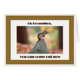 Groundhog Day Card
