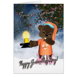 Groundhog Day Card - Cute Groundhog Day Card