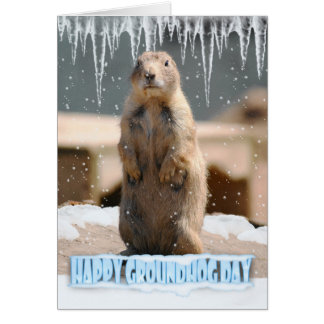 Groundhog Day Card, Happy Groundhog Day Card