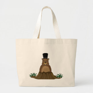 Groundhog day - Cartoon style Large Tote Bag