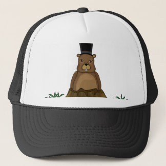 Groundhog day - Cartoon style Trucker Hat