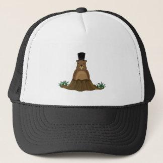 Groundhog day - cartoon style trucker hat