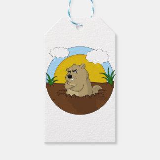 Groundhog day gift tags
