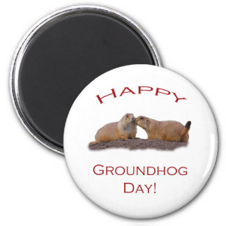 Groundhog Day Kiss Magnet