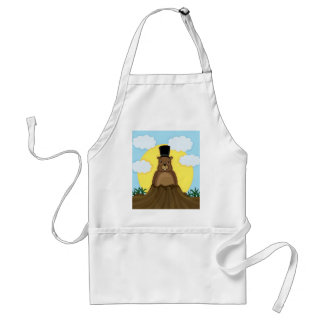 Groundhog day standard apron