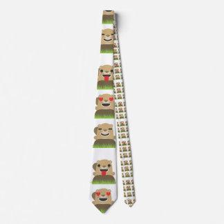 groundhog emojis menswear mens necktie neck tie