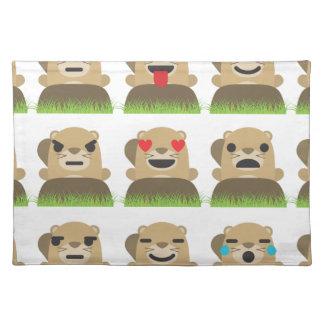 groundhog emojis placemat