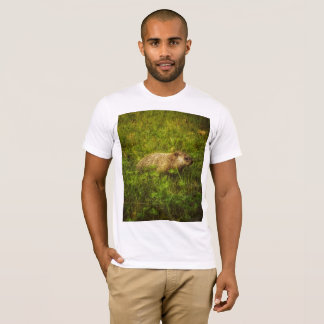 Groundhog in a field t-shirt