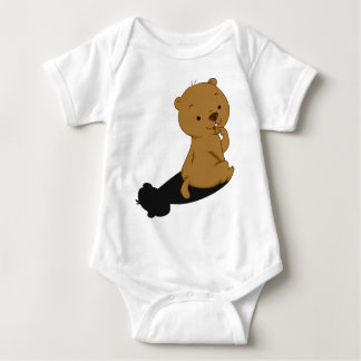 Groundhog Shadow Baby Bodysuit