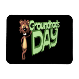 Groundhogs Day Magnet