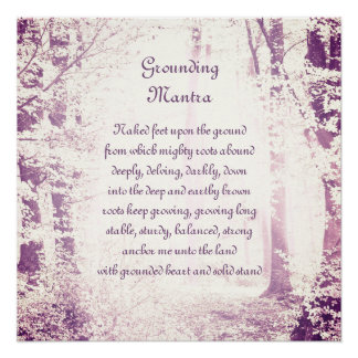 Grounding Mantra Poster