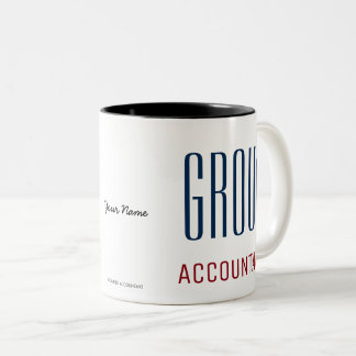 """GROUP ACCOUNTANT"" Two-Tone COFFEE MUG"
