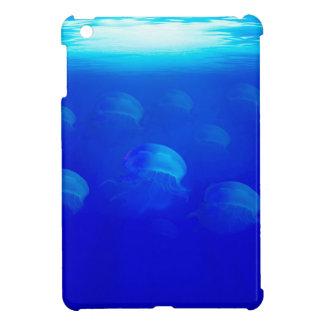 Group blue jellyfish in the Atlantic ocean swiming iPad Mini Cover