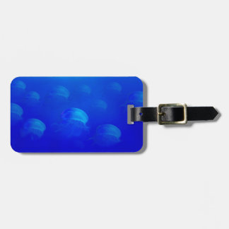 Group blue jellyfish in the Atlantic ocean swiming Luggage Tag