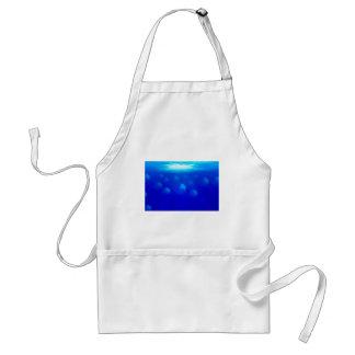 Group blue jellyfish in the Atlantic ocean swiming Standard Apron