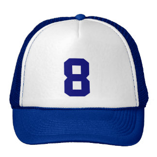 Group custom number eight 8 blue color cap